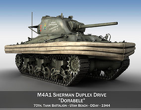 m-4 M4A1 Sherman Duplex Drive 3D