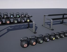 3D asset Kettlebell Rack