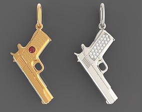 3D print model Pendant gun colt