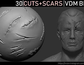 Zbrush - Cuts and Scars VDM Brush 3D
