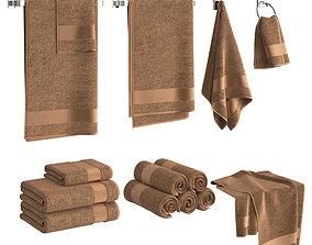 3D model Gold Towels Set