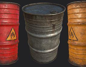 Explosive Barrels PBR 3D model