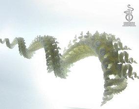 Spiralling spirals 3D printable fractal sculpture
