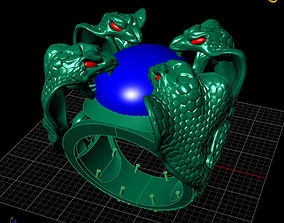 snake ring jewerly 3d mpdel stl 3dm