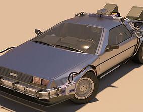 Delorean Back to the Future Part 1 3D model
