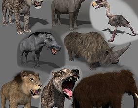 animated Past mammals pack - 3d animated past mammals