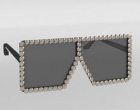 Gucci Diamond Sunglasses 3D model