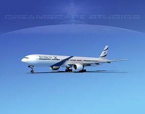 Boeing 777-300 El Al 3D model