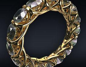 Ring full 16 round stones 3D model