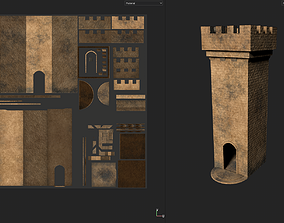 Medieval Watchtower 3D asset