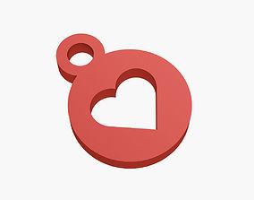 Heart keychain 3D print model