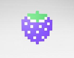 Pixel Strawberries v1 004 3D model