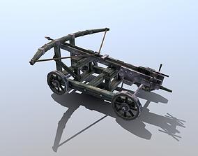 3D model low-poly Medieval Ballista