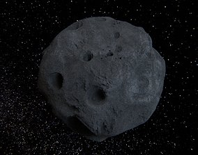3D model PBR Detailed asteroid
