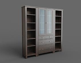 3D model HEMNES storage combination w doors drawers