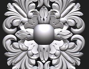 Carved Rosette decor element 3D printable model
