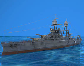 USS Arizona in 3ds and obj formats