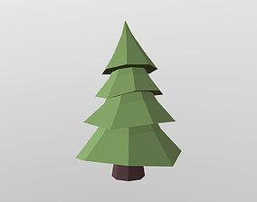 3D asset Stylized Fir Tree 2020