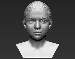 Selena Gomez bust 3D printing ready stl obj formats