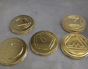 3D printable model Alien rangers power coins