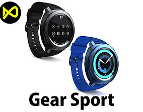 Samsung Gear Sport Set 3D model