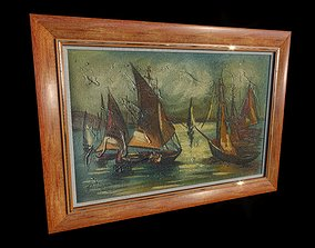 Sailing Boats Oil Painting nautical 3D model