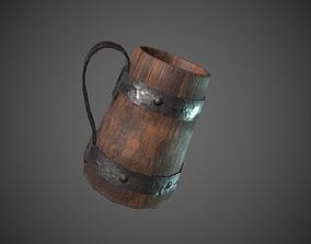 Wooden Tavern Cup 3D model