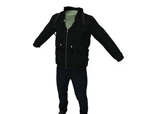 Civilian clothing 3D asset