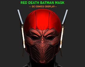 Red Death Batman Mask - Flash Mask - DC 3D printable model