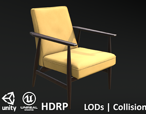 3D model Soviet Armchair Lisek Yellow