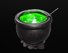 Stylized Witch Boiler 3D model
