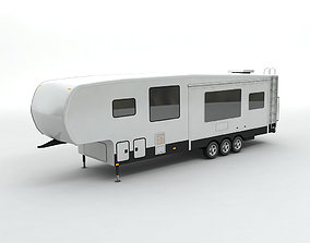 Fifth Wheel Travel Trailer Toy Hauler 3-Axle 3D model
