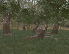 3D model Low Poly Simple Foliage Pack With PBR