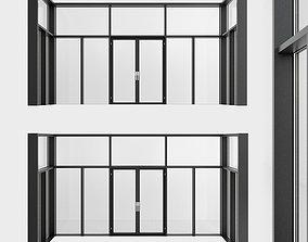 Panoramic windows Door Entrance 1 3D model