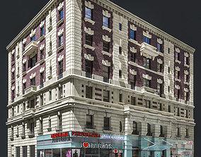 3D model New York old building facade