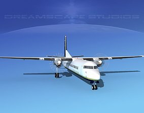 3D model Fokker F-60 Air Charter Intl