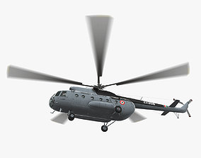 Mi-8T India Air Force Animated 3D asset