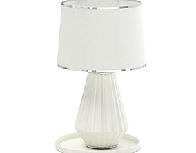 Beige Table Lamp 3D Model furniture