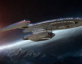 3D stl star trek uss enterprise ncc 1701-f