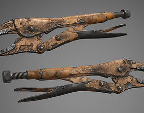 Locking Pliers 3D asset