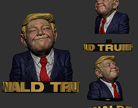 Donald Trump Sculpture 3D Print Model -STL Files for 3D