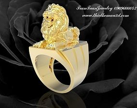 381 Golden Lion Ring or Lord of Lord of 3D printable model