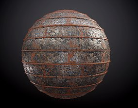 Metal Steel Rusted Pipe Seamless PBR Texture 3D
