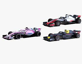 Formula 1 2018 cars Pack 2 3D model