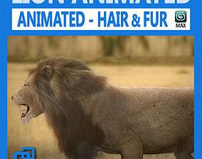 pantera 3D model Animated Lion