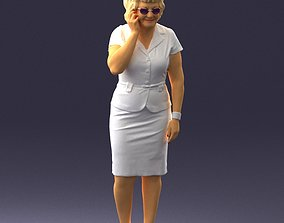 Grandmother in white suit 0373 3D Print Ready