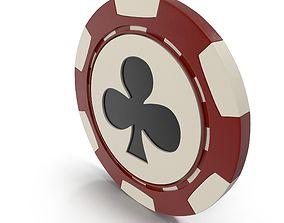 Clubs Casino Chip 3D model