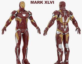3D Iron Man Mark XLVI RIGGED