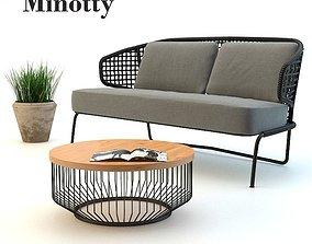 3D Outdoor sofa set