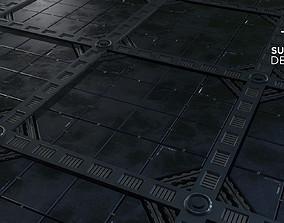 3D Sci-Fi panels 01 - Customizable PBR Material